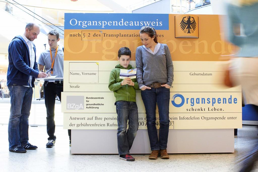 Organspendeausweis-Schrank